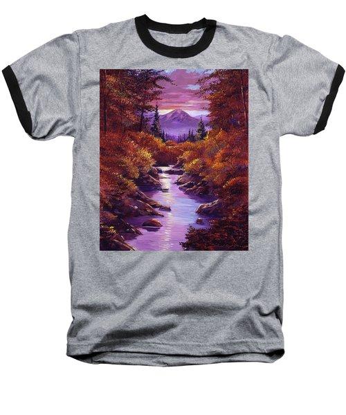 Quiet Autumn Stream Baseball T-Shirt