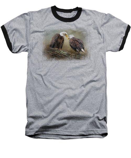 Quiet Conversation Baseball T-Shirt by Jai Johnson