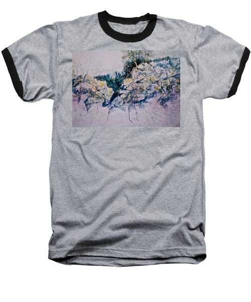 Baseball T-Shirt featuring the painting Quiet Journey by Carolyn Rosenberger