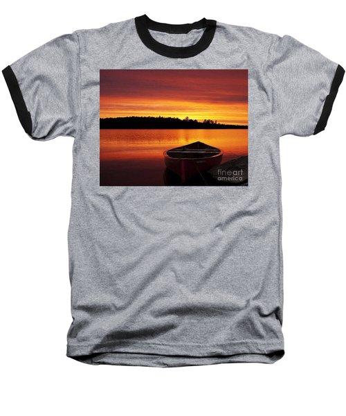 Quiet Sunset Baseball T-Shirt by Rod Jellison