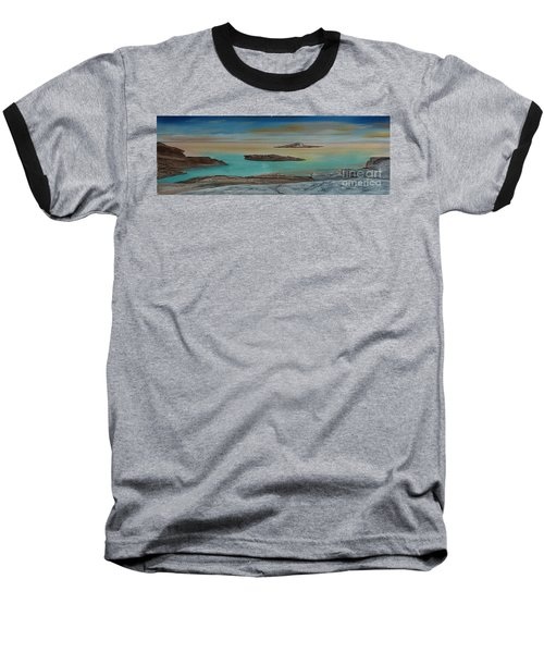 Baseball T-Shirt featuring the painting Quiet Tropical Waters by Rod Jellison