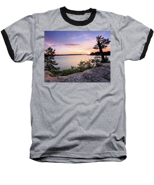 Baseball T-Shirt featuring the photograph Quiet Waters Crop by Jennifer Casey