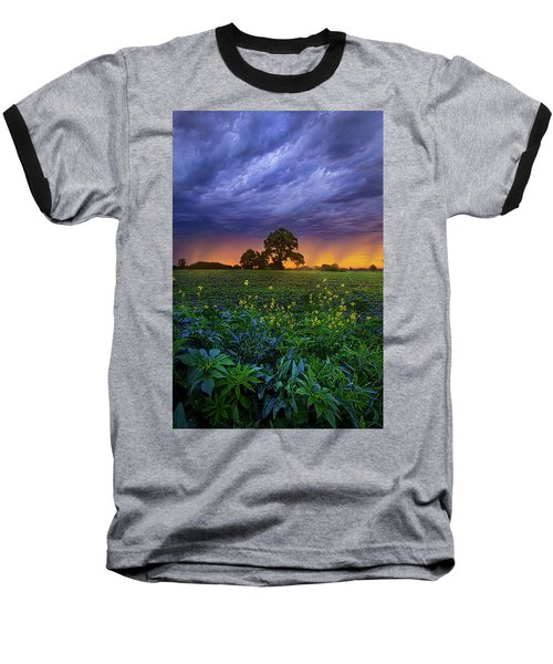 Quietly Drifting By Baseball T-Shirt by Phil Koch