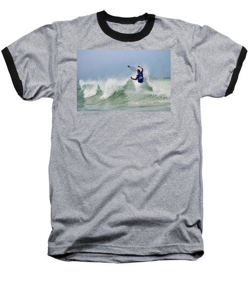 Baseball T-Shirt featuring the photograph Quiksilver Pro France I by Thierry Bouriat