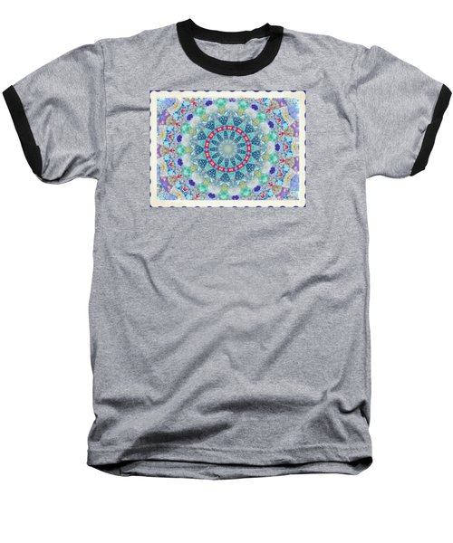Baseball T-Shirt featuring the photograph Quilted Color  Wheel by Shirley Moravec