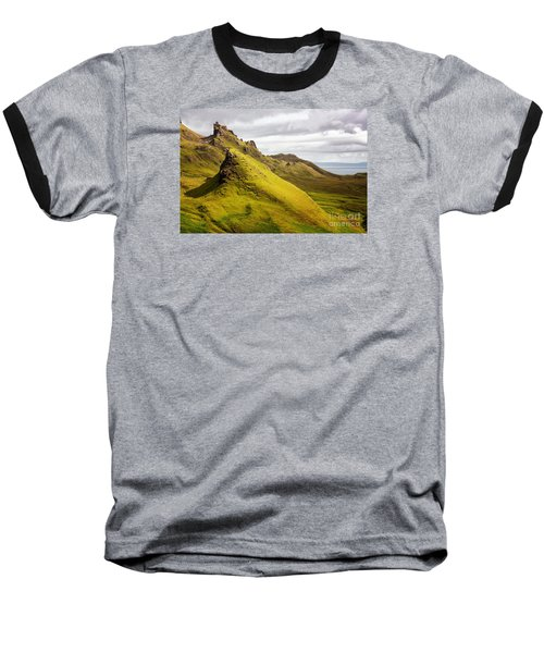 Quiraing Mountains Baseball T-Shirt