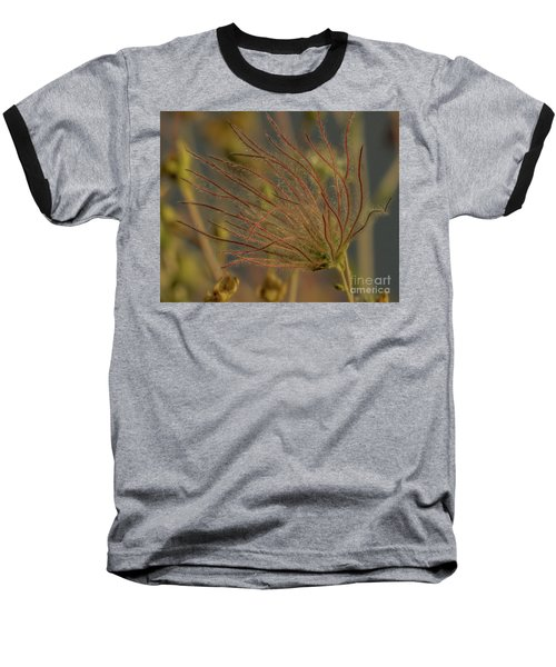 Quirky Red Squiggly Flower 4 Baseball T-Shirt