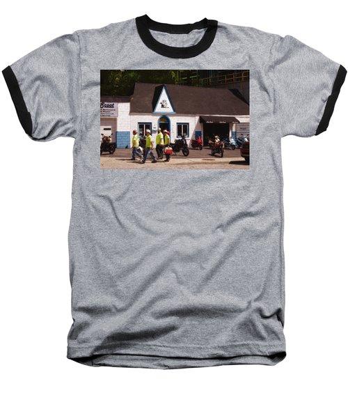 Quitting Time Baseball T-Shirt by David Blank