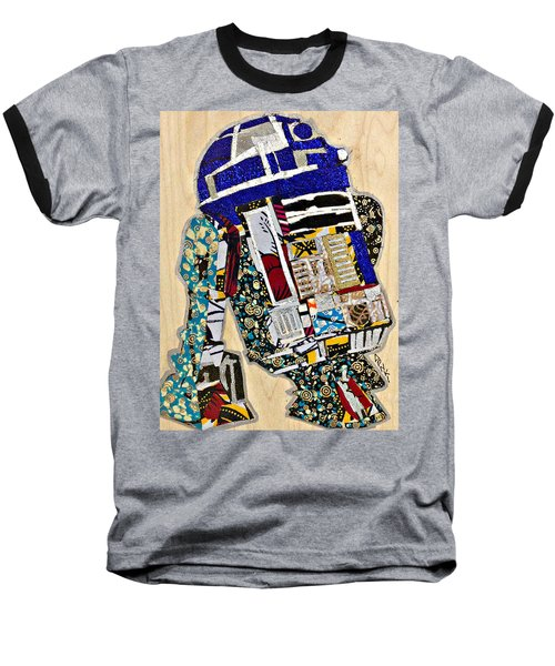 Baseball T-Shirt featuring the tapestry - textile R2-d2 Star Wars Afrofuturist Collection by Apanaki Temitayo M