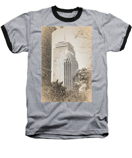 R2d2 Building And The Prudential Center Baseball T-Shirt