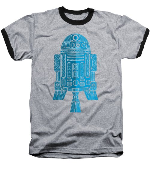 R2d2 - Star Wars Art - Blue 2 Baseball T-Shirt