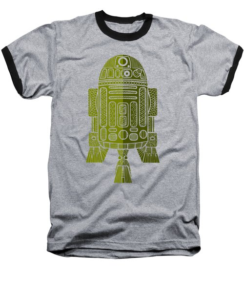 R2d2 - Star Wars Art - Green 2 Baseball T-Shirt