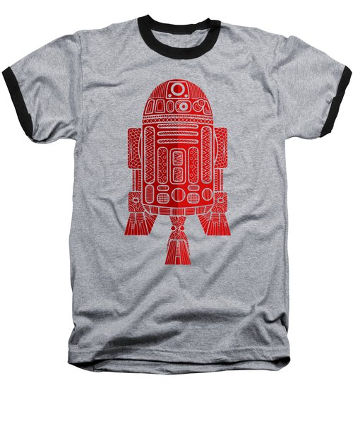 R2d2 - Star Wars Art - Red 2 Baseball T-Shirt