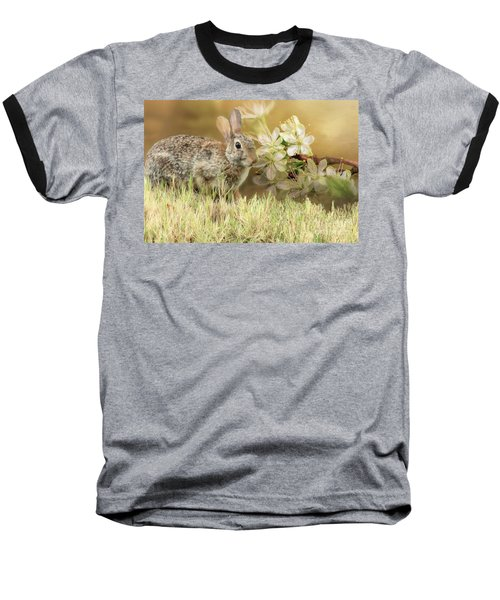 Eastern Cottontail Rabbit In Grass Baseball T-Shirt