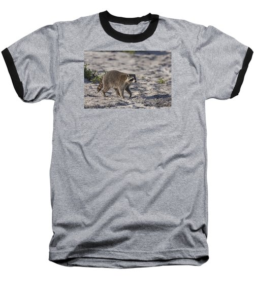 Raccoon On The Beach Baseball T-Shirt