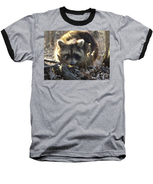 Raccoon Sunset Baseball T-Shirt