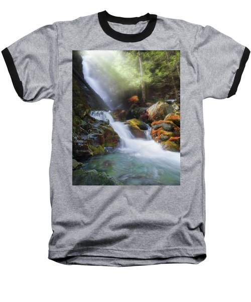 Baseball T-Shirt featuring the photograph Race Brook Falls 2017 by Bill Wakeley