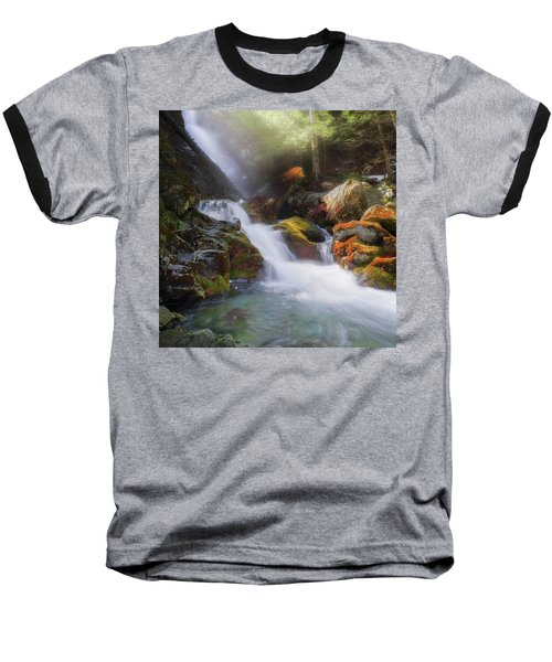 Baseball T-Shirt featuring the photograph Race Brook Falls 2017 Square by Bill Wakeley