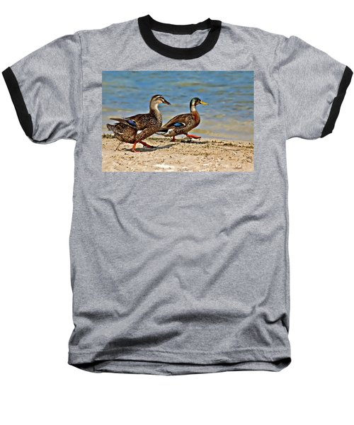 Baseball T-Shirt featuring the photograph Race You To The Water by Carolyn Marshall