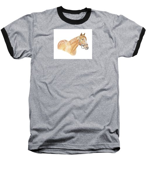 Baseball T-Shirt featuring the painting Racehorse by Elizabeth Lock