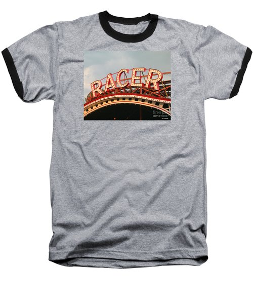 Racer Coaster Kennywood Park Baseball T-Shirt by Jim Zahniser