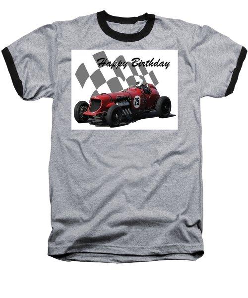 Racing Car Birthday Card 3 Baseball T-Shirt
