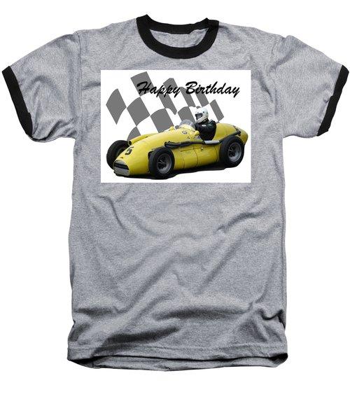 Racing Car Birthday Card 4 Baseball T-Shirt