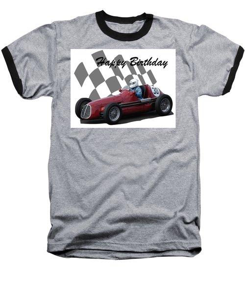 Racing Car Birthday Card 6 Baseball T-Shirt