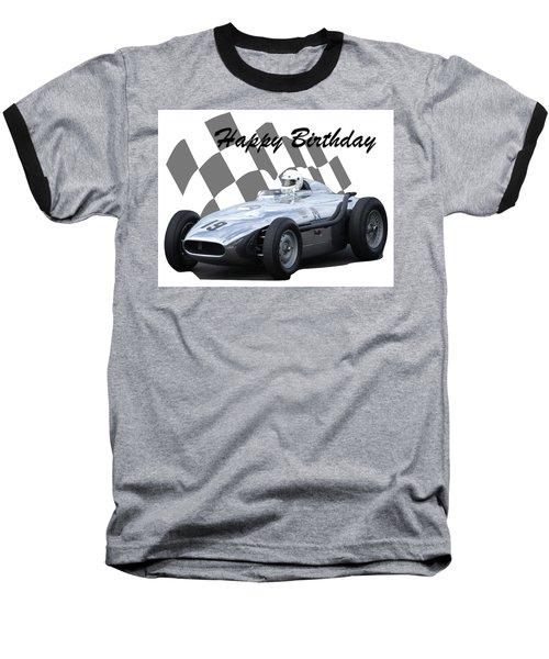 Racing Car Birthday Card 7 Baseball T-Shirt