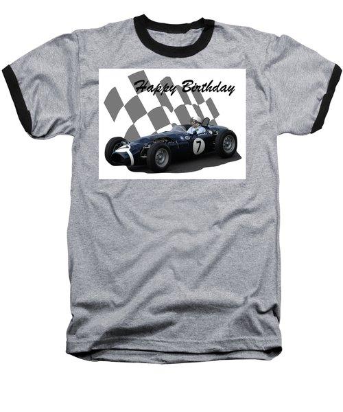 Racing Car Birthday Card 8 Baseball T-Shirt