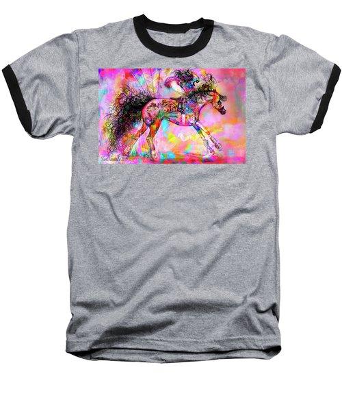 Racing For Time Baseball T-Shirt by Kari Nanstad