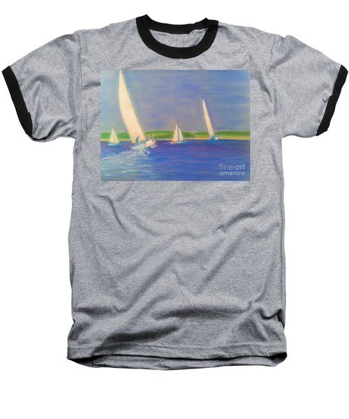 Racing Off Chester Baseball T-Shirt by Rae  Smith
