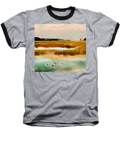 Racing The Tide Baseball T-Shirt