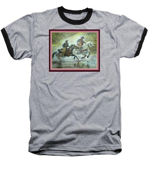 Racing Through The Water Baseball T-Shirt