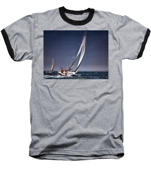 Racing To Nantucket Baseball T-Shirt