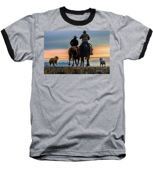 Racing To The Sun Wild West Photography Art By Kaylyn Franks Baseball T-Shirt