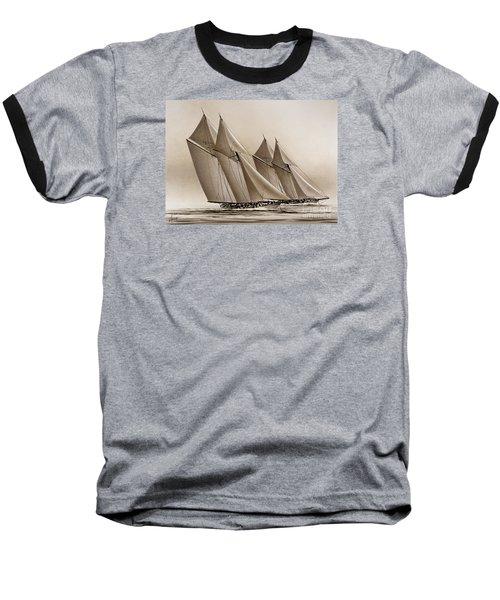 Racing Yachts Baseball T-Shirt by James Williamson