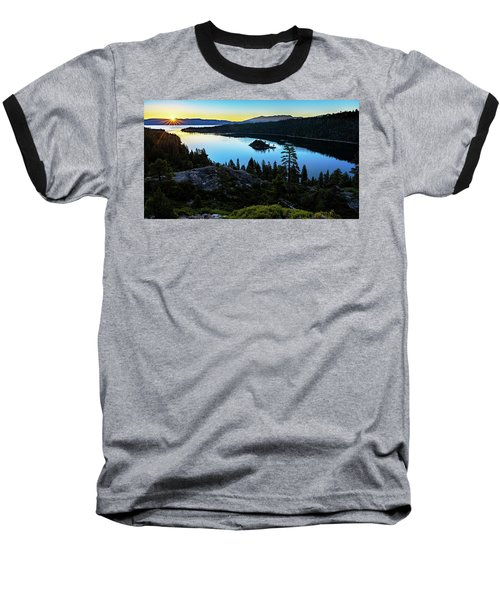 Radiant Sunrise On Emerald Bay Baseball T-Shirt