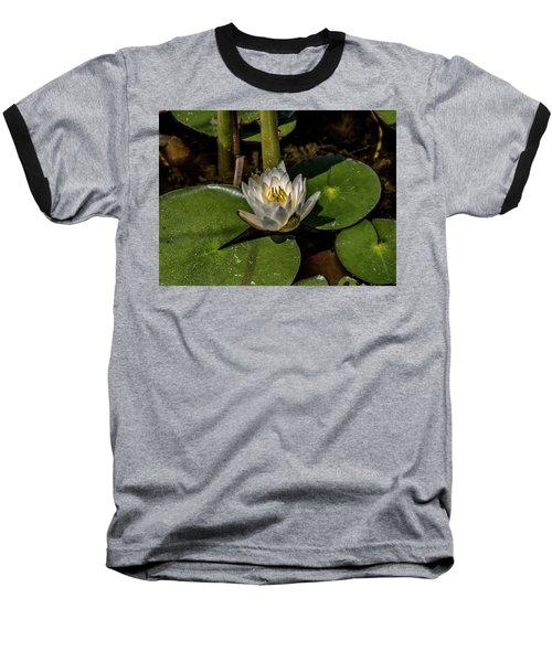 Radiant White Pond Lily  Baseball T-Shirt
