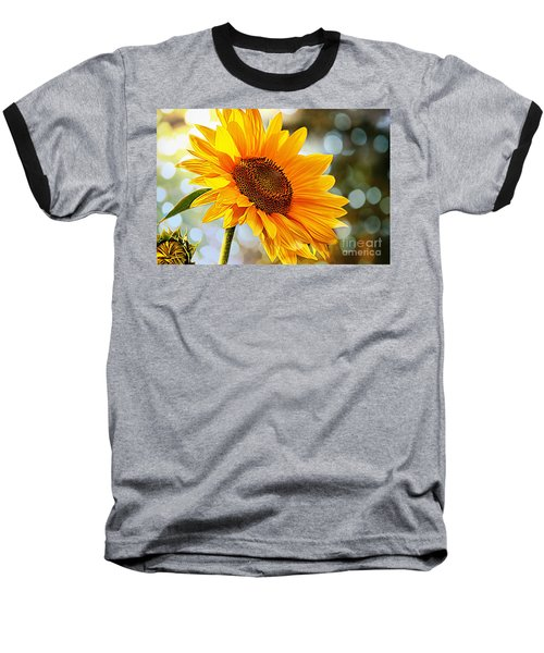 Radiant Yellow Sunflower Baseball T-Shirt