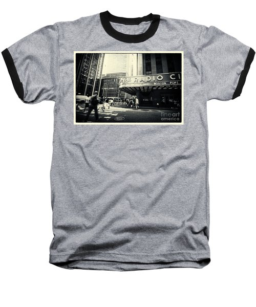 Radio City Music Hall Manhattan New York City Baseball T-Shirt