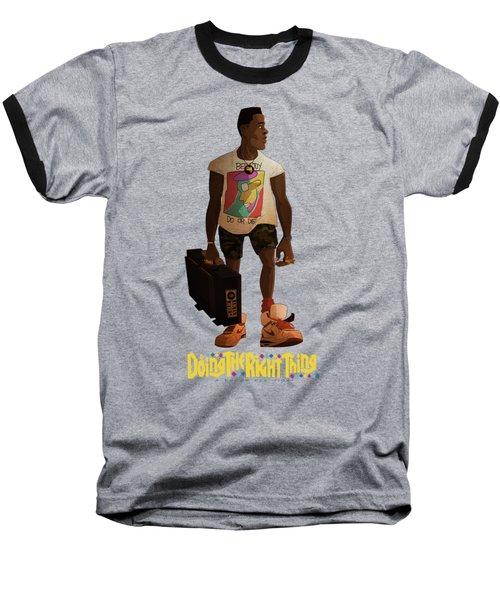 Radio Raheem Baseball T-Shirt by Nelson Dedos Garcia