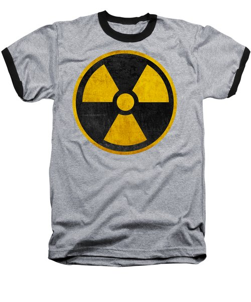 Vintage Distressed Nuclear War Fallout Shelter Sign Baseball T-Shirt