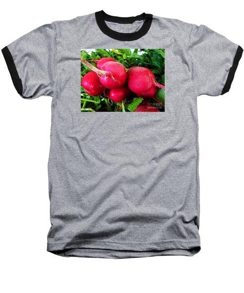 Radish Bottoms Baseball T-Shirt by Dee Flouton