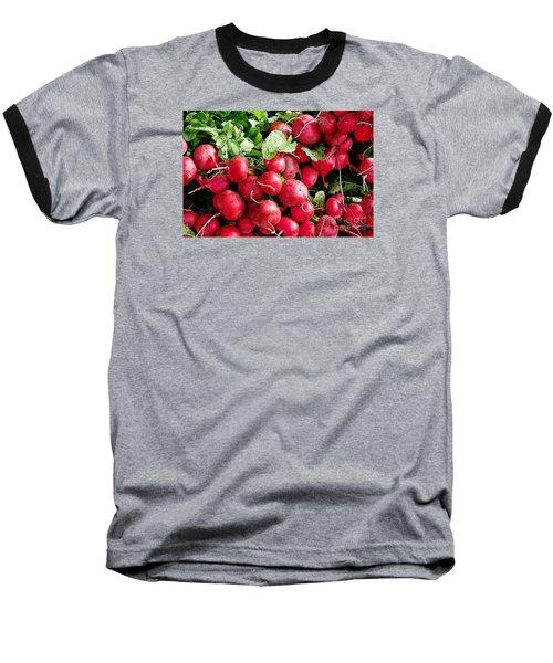 Radishes 1 Baseball T-Shirt by David Blank