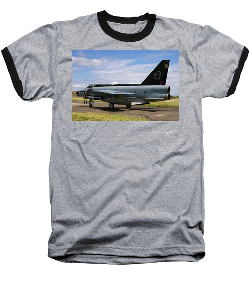 Raf English Electric Lightning F6 Baseball T-Shirt by Tim Beach