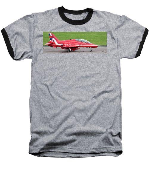 Raf Scampton 2017 - Red Arrows Xx322 Sitting On Runway Baseball T-Shirt