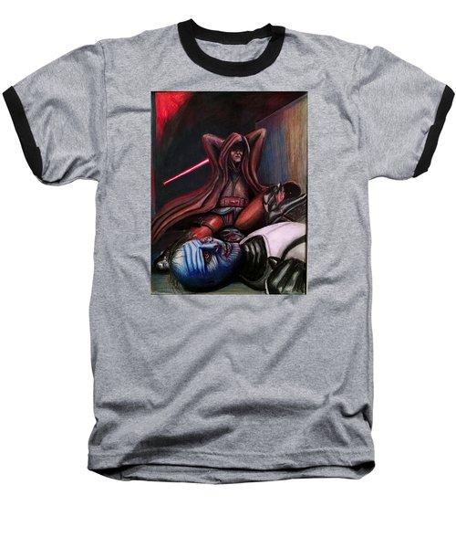 Rage Of The Jedi Baseball T-Shirt by Chris Benice
