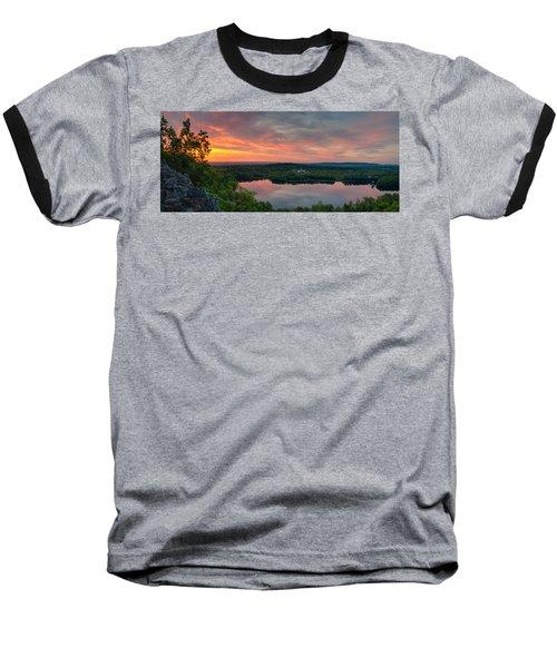 Ragged Mountain Sunrise Baseball T-Shirt by Craig Szymanski