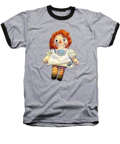 Raggedy Ann Doll Baseball T-Shirt by Pamela Walton